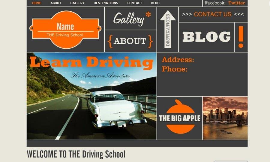 Bài tham dự cuộc thi #                                        1                                      cho                                         Webpage design for Driving School