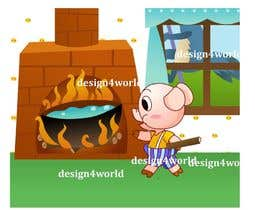 "#16 para Illustration for one page from the famous story ""Three little pigs"" por design4world"