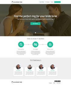 #43 untuk Design a Website home / landing page oleh ankisethiya
