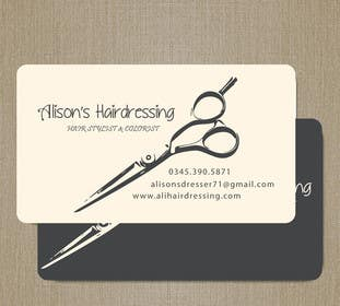 #4 untuk Design some Business Cards for a Small Hairdressing Business oleh aalyraj