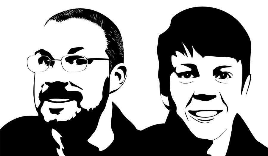 Bài tham dự cuộc thi #41 cho Create a 2D Caricature/Cartoon of 2 Faces