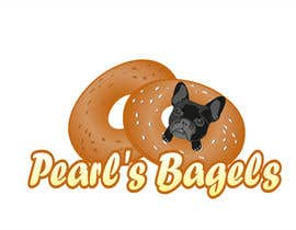 "#22 for French Bulldog -- ""Pearl's Bagels"" bagel company logo by misicivana"