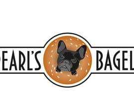 "#29 for French Bulldog -- ""Pearl's Bagels"" bagel company logo af misicivana"