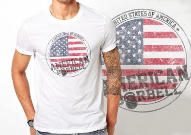 ezaz09 tarafından Design a T-Shirt for AmericanBarbell.com için no 22