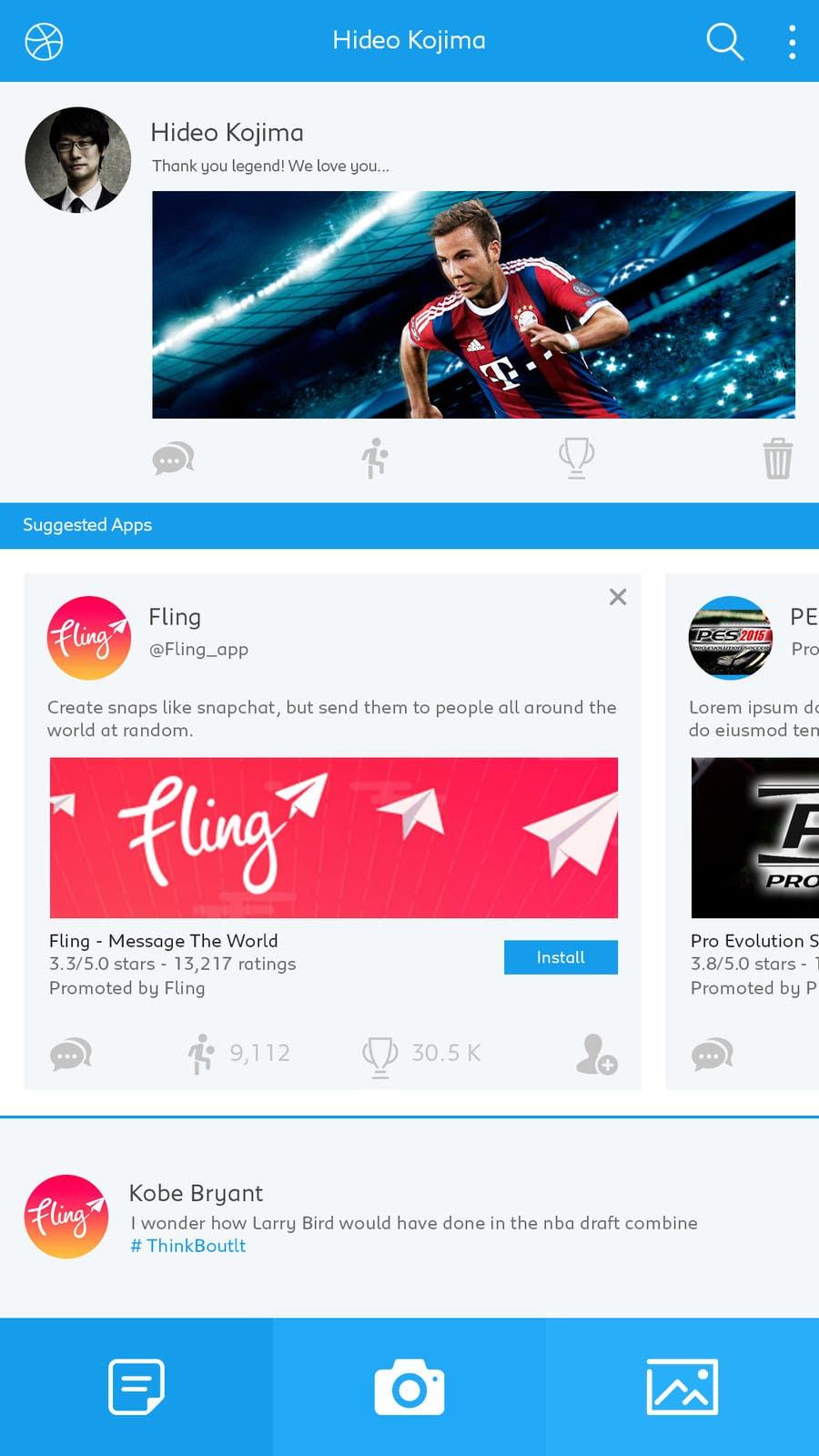 Konkurrenceindlæg #11 for Design an App Mockup for iSporty app