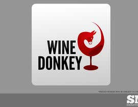 #154 para Logo Design for Wine Donkey por socratesmaura
