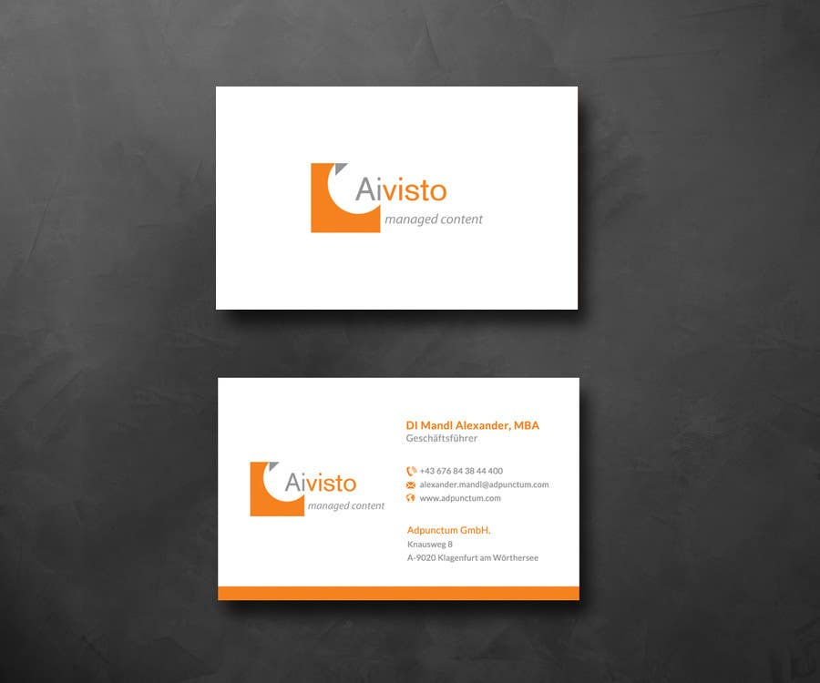 Entry #13 by SarahDar for Design some Business Cards for Adpunctum ...