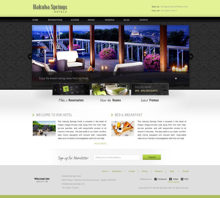 Contest Entry #17 for Hotel website design template