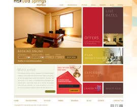 nº 18 pour Hotel website design template par iffal