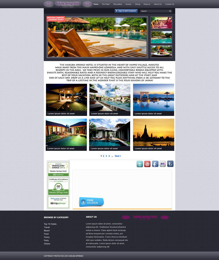 Contest Entry #21 for Hotel website design template