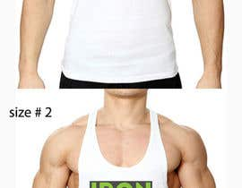 #115 untuk Tank Top design for Iron Cloth oleh Salmang