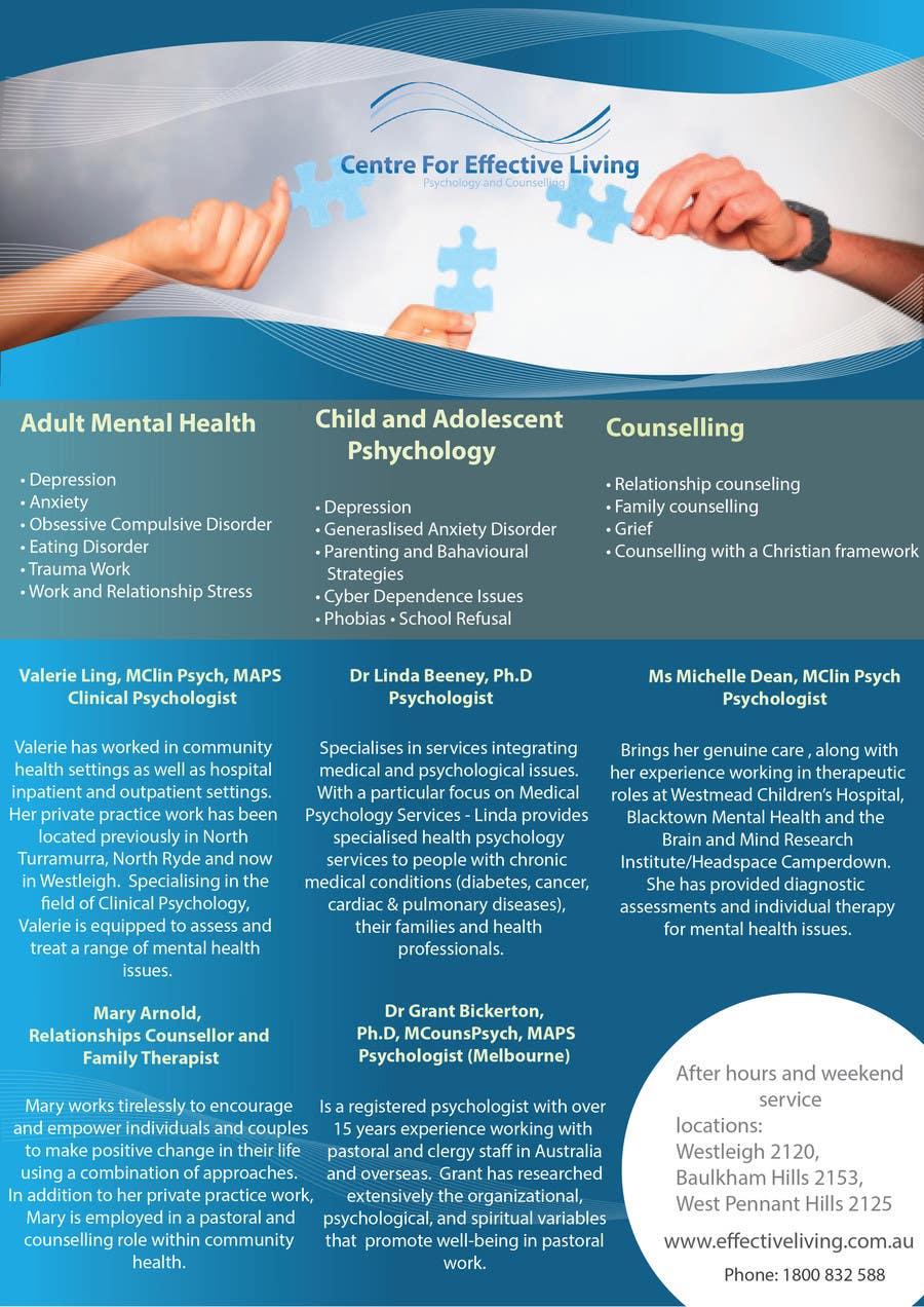 Penyertaan Peraduan #17 untuk Design a Flyer for Psychology service