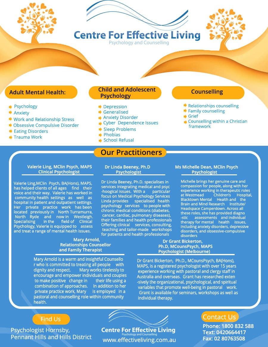 Penyertaan Peraduan #35 untuk Design a Flyer for Psychology service