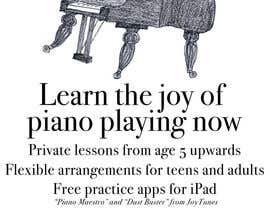 #127 untuk Design a Logo for a Piano Teacher oleh bennashcartoons