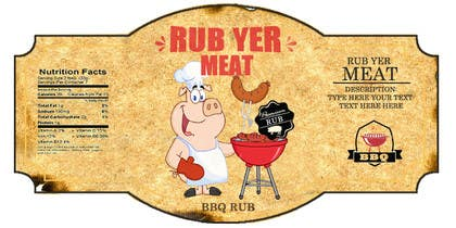 #37 untuk Create Print and Packaging Designs for BBQ Rub Labels oleh RainMQ