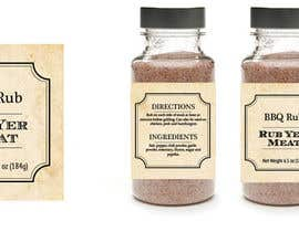 #7 untuk Create Print and Packaging Designs for BBQ Rub Labels oleh Christina850