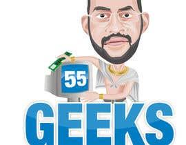 nº 4 pour 55 Geeks logo design par geniedesignssl