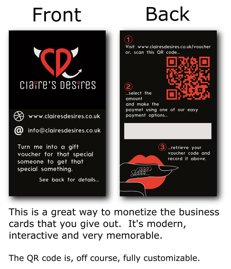 Entry #4 by jfalberts for Mockup some Business Cards for a lingerie ...