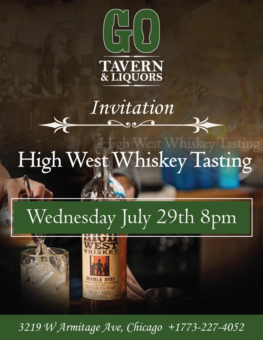 Konkurrenceindlæg #18 for Design a Flyer for High West Whiskey Tasting