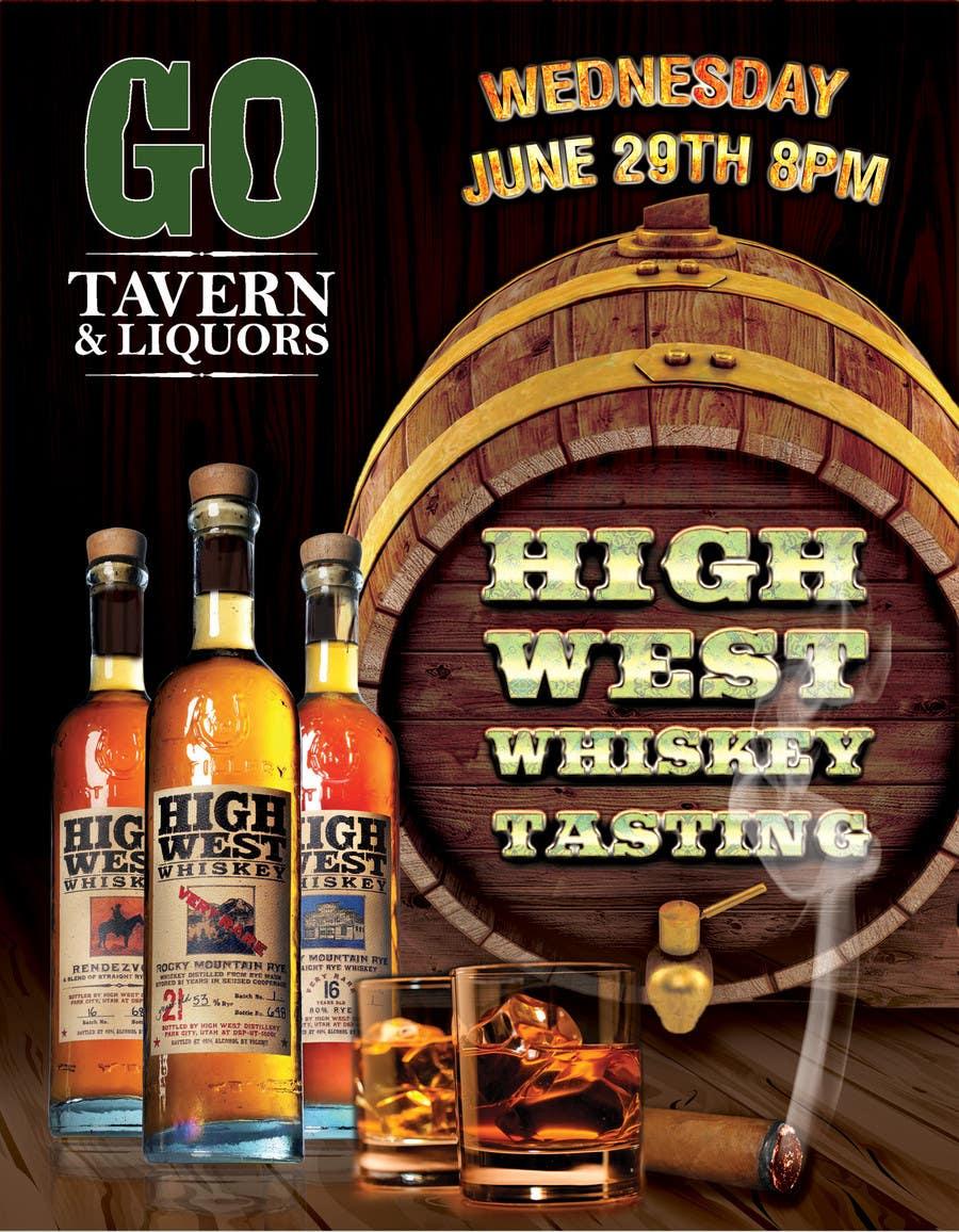 Konkurrenceindlæg #27 for Design a Flyer for High West Whiskey Tasting