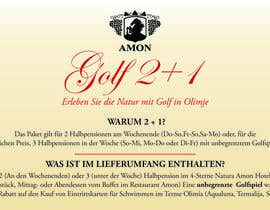 #2 for Design a Banner Golf 2+1 in german af deziner14