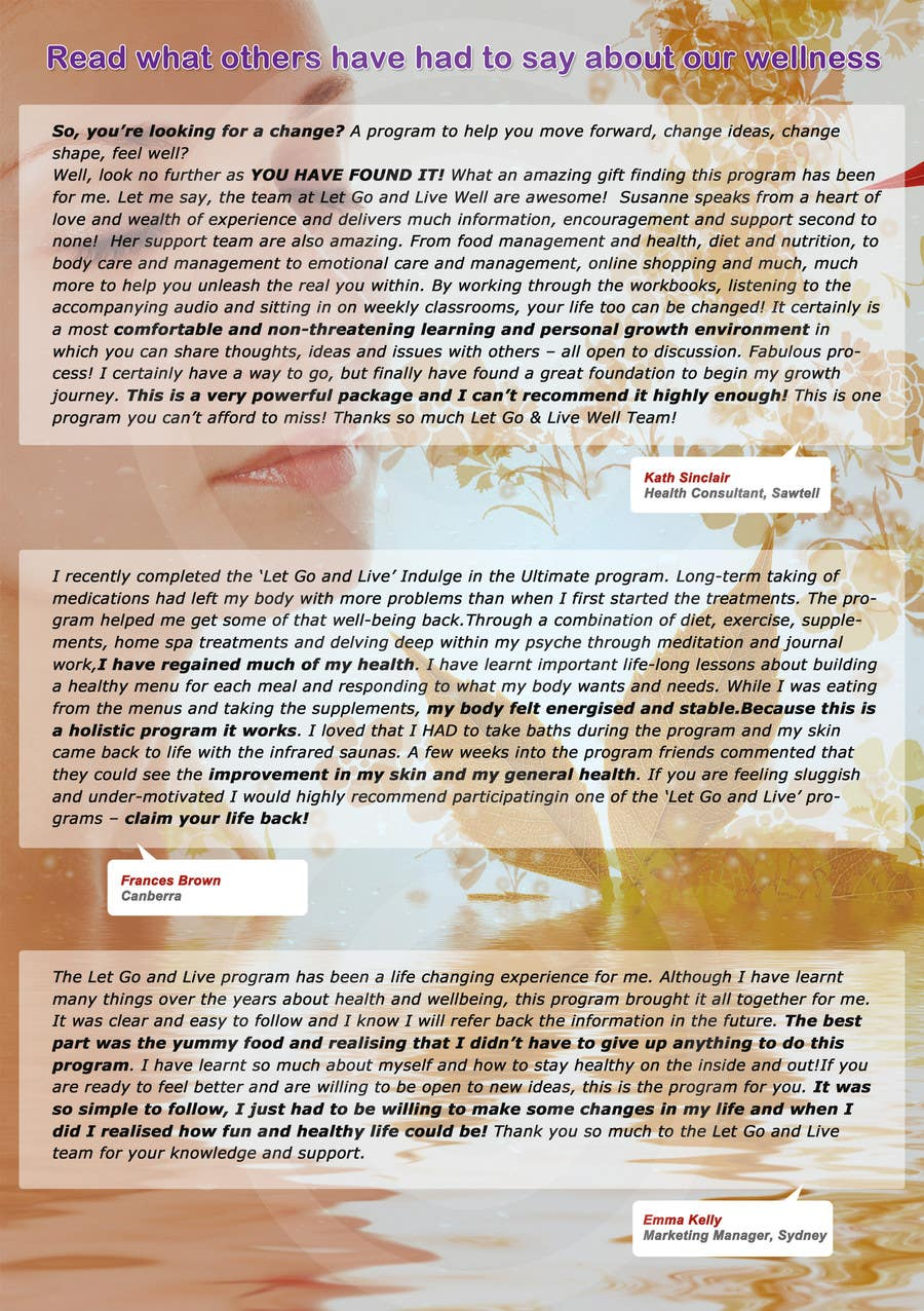 Bài tham dự cuộc thi #                                        16                                      cho                                         Design a Flyer for our wellness programs