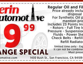 #5 for Design two coupons Advertisement for Auto Repair Shop by TwistedMunkay