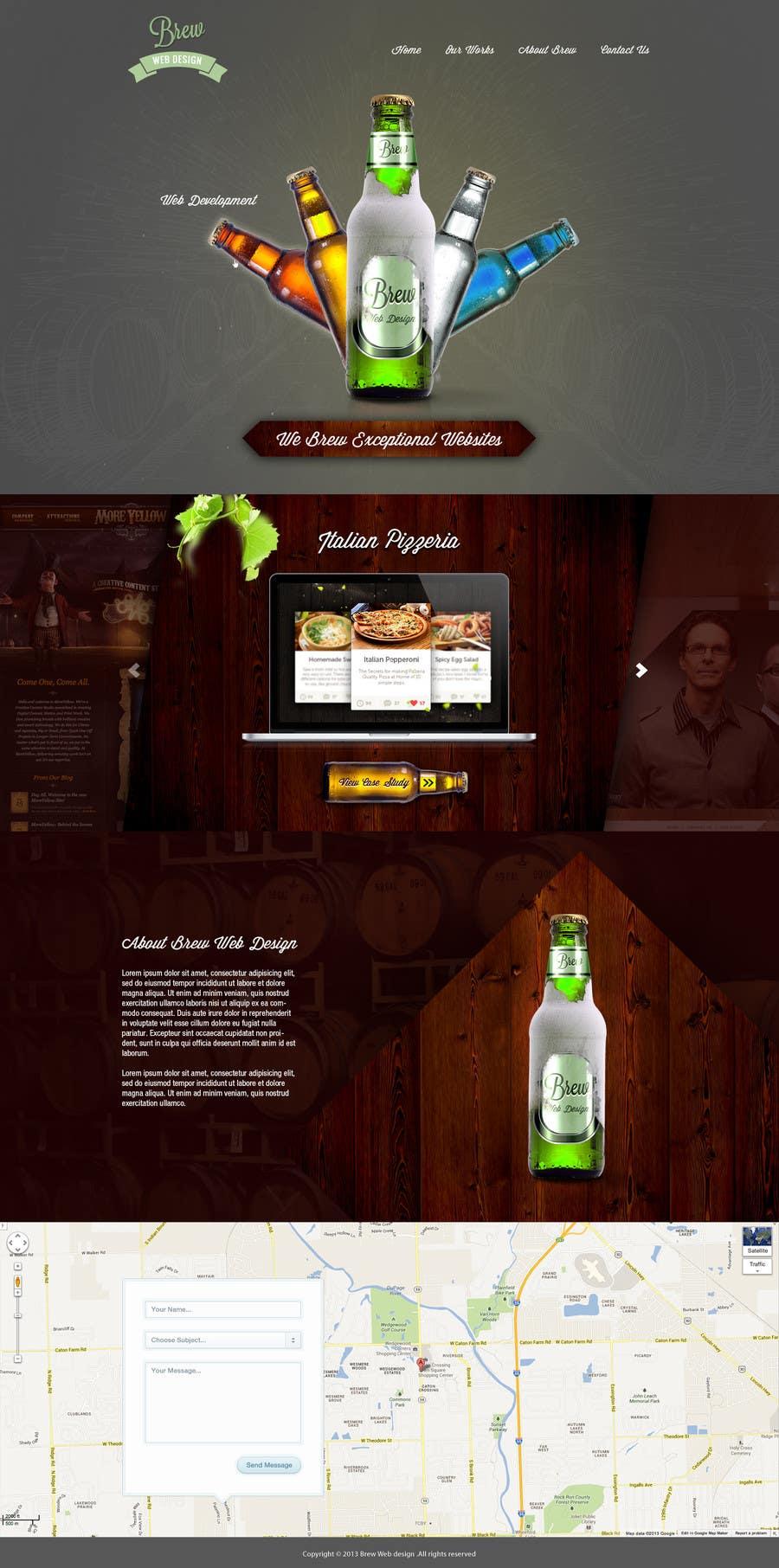 Penyertaan Peraduan #37 untuk Design a Website Mockup for a Web-Design Agency