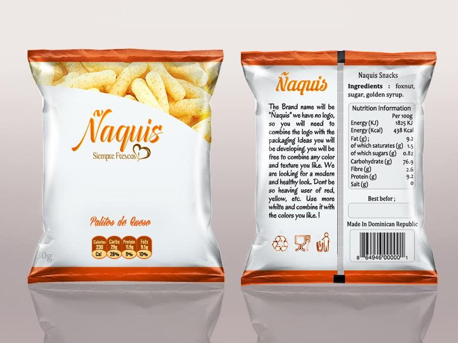 Konkurrenceindlæg #46 for Print & Packaging Design for Snacks and logo for Ñaquis Snacks