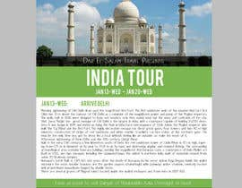 #9 untuk India Tour Flyer (regular A4 size) oleh sumantechnosys