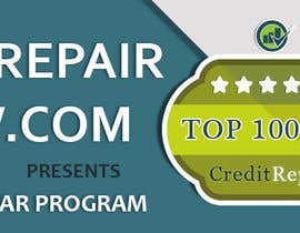 #33 untuk Design a Banner for CreditRepairReview.com oleh demotique