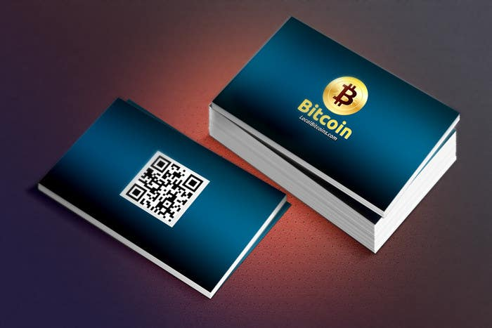 Entry 46 by alfatihstudio for design 10 business cards for bitcoin contest entry 46 for design 10 business cards for bitcoin colourmoves