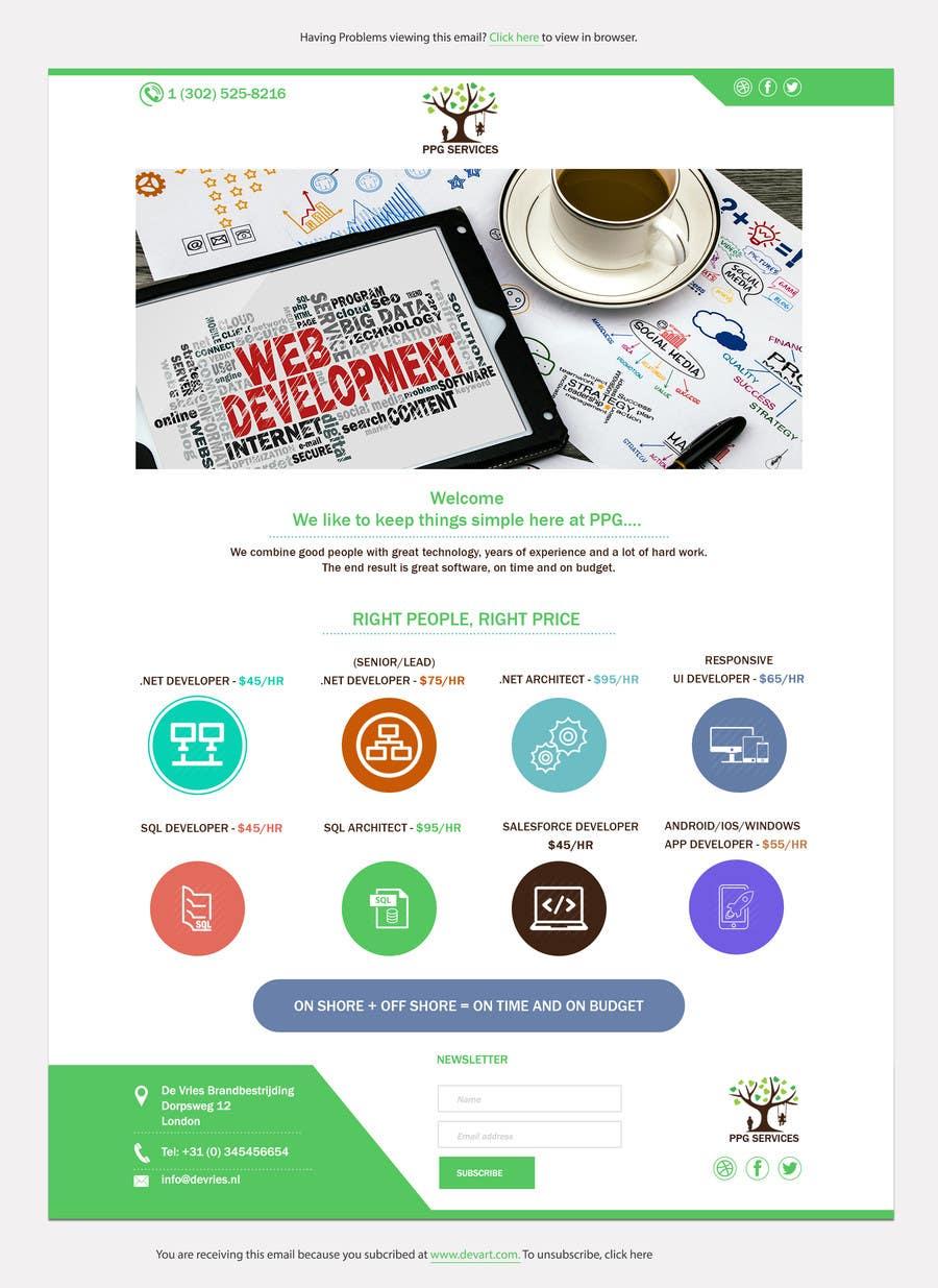 Develop an Email Template Advertising Mass Email Marketing – Marketing Email Template