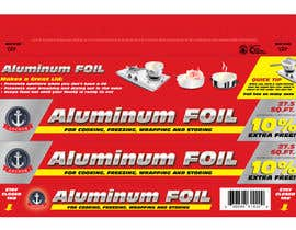 #5 para Create Print and Packaging Designs for ALUMINUM FOIL PACKAGE por eliespinas