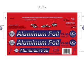 #15 para Create Print and Packaging Designs for ALUMINUM FOIL PACKAGE por CBDesigns101