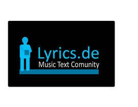 #3 untuk design a logo for the music text comunity lyrics.de oleh Aetbaar