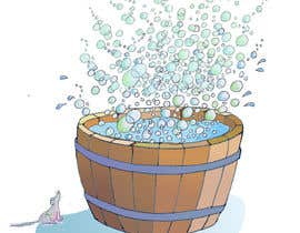 #11 cho Illustrate a Wooden Half-Tub, with Water & Bubbles bởi bennashcartoons