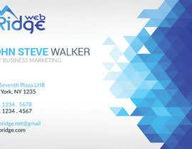 #17 untuk Design some Business Cards for Ridge Web oleh ahmedmhamdi97
