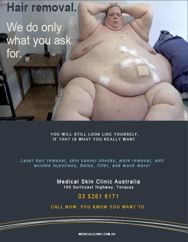 Penyertaan Peraduan #23 untuk Design an Advertisement for a skin cancer and cosmetic clinic