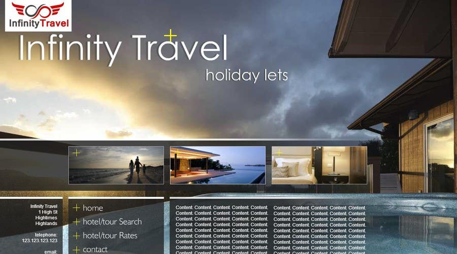 #6 for Design a Website Mockup for Tourist Agency by gaurangdutt