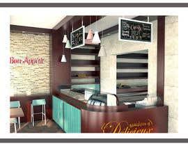 #18 untuk Interior modern design for a sweet/pastry shop oleh biodomo