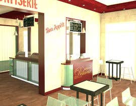 #28 untuk Interior modern design for a sweet/pastry shop oleh biodomo
