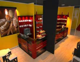 #34 untuk Interior modern design for a sweet/pastry shop oleh perpetualmaxon