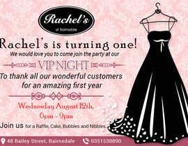 #20 untuk Design a Flyer for clothing store 1st birthday invite oleh grafikguru
