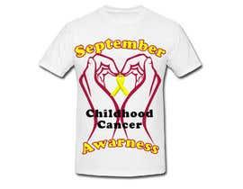 "#30 untuk Design a T-Shirt For "" September Childhood Cancer Awareness Month "" oleh LimeByDesign"
