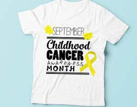 "#14 untuk Design a T-Shirt For "" September Childhood Cancer Awareness Month "" oleh Christina850"