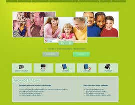 #22 para Graphic Redesign: Front page of web app for nursery schools (PSD) por lataraaa