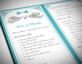 imagencreativajp tarafından I need some Graphic Design for a Wedding Program için no 17