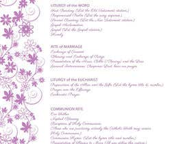 #13 untuk I need some Graphic Design for a Wedding Program oleh zinvs