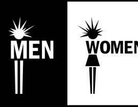 ngahoang tarafından Design a Logo for man and woman toilet doors için no 30